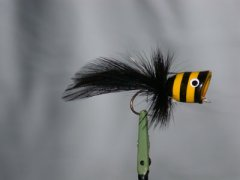 Walt's Bass Poppers, Black and Yellow Stripes