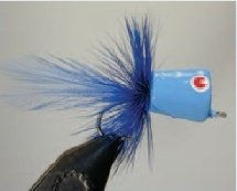 Walt's Bass/Bream Poppers, Carolina Blue