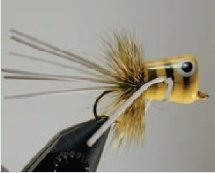 Walt's Bass/Bream Poppers, Yellow Bee